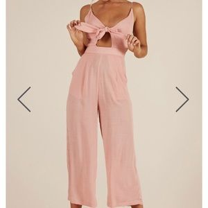 Showpo pink jumpsuit